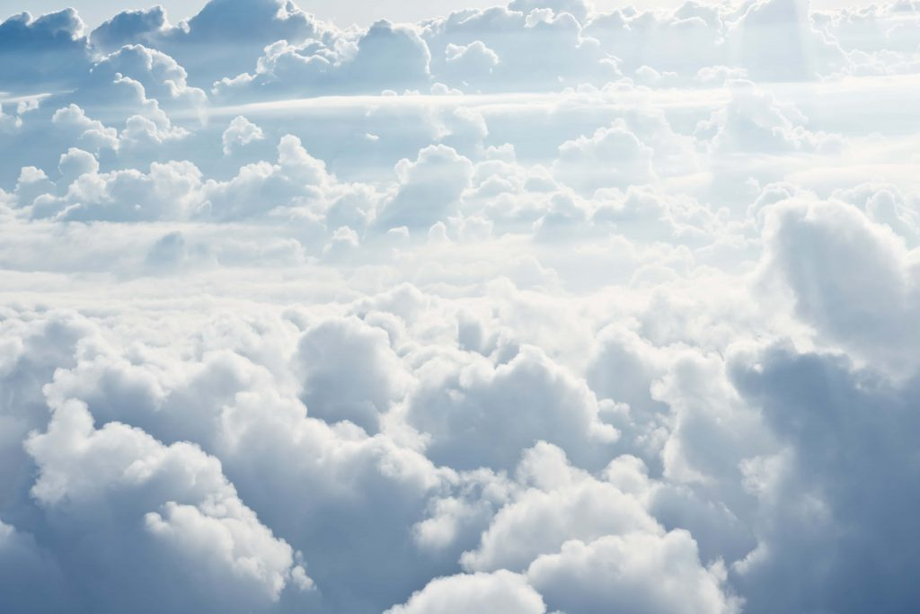 Sky view with clouds